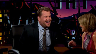 James Corden and Katie Couric