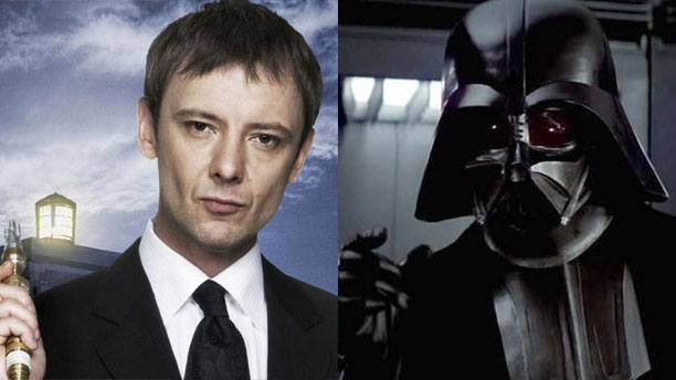 The Master and Darth Vader (Pics: BBC and Lucasfilm)