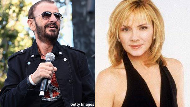 Ringo Starr and Kim Cattrall (Pic: Jason Merritt/Getty Images)