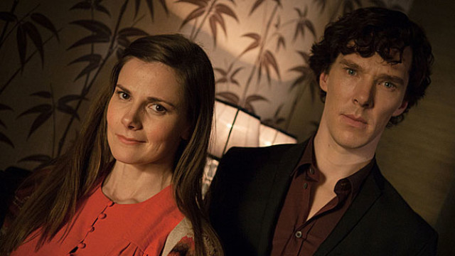 Louise Brealey and Benedict Cumberbatch in 'Sherlock' (Pic: BBC)