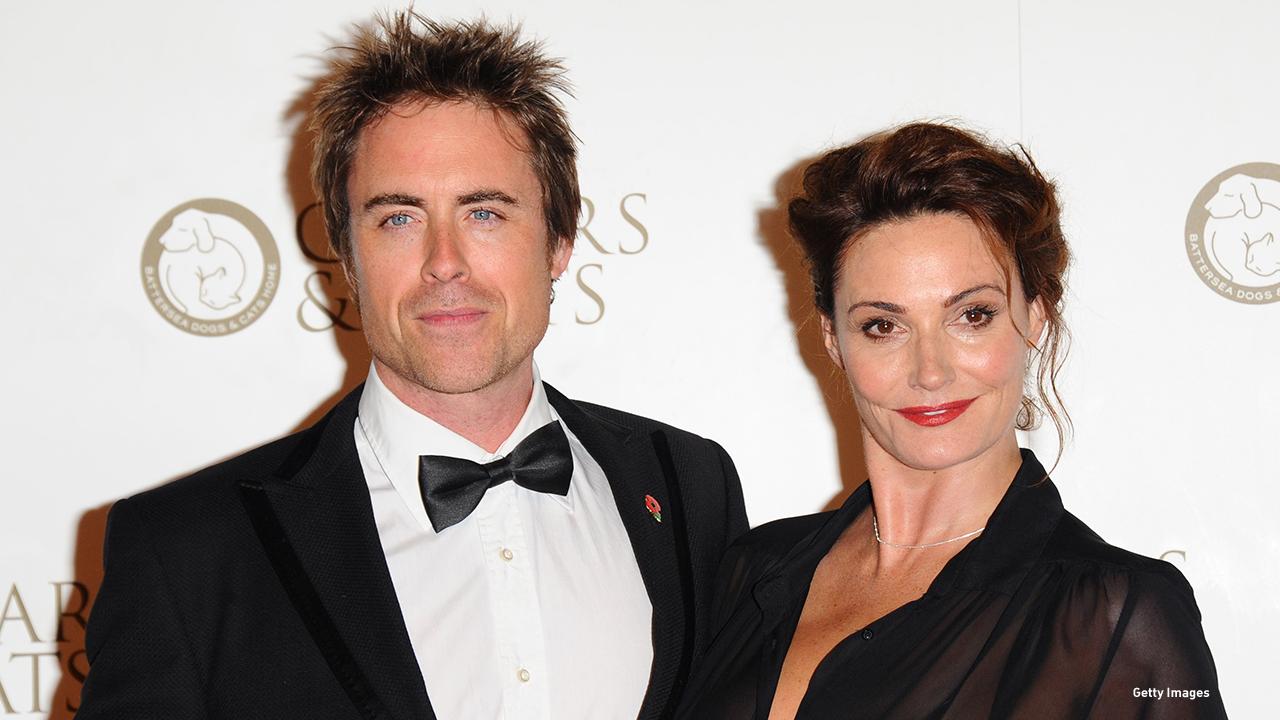2014: Rob Lowe and Sarah Parish at the Collars & Coats Gala Ball in London.
