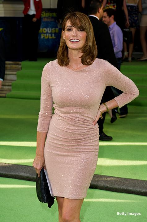 2011: Sarah Parish sparkles at the press night for 'Shrek The Musical' in London.