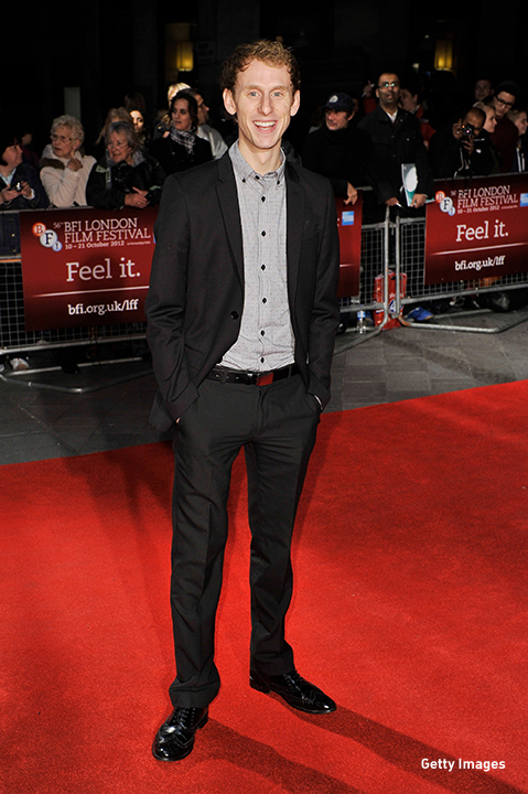 2012: Robert Emms walks the red carpet at the 'Broken' premiere at the BFI London Film Festival.