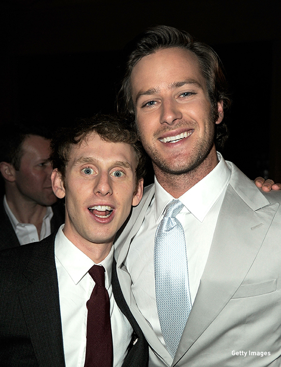 2012: Robert Emms and Armie Hammer hit the 'Mirror Mirror' after party in Hollywood, California.