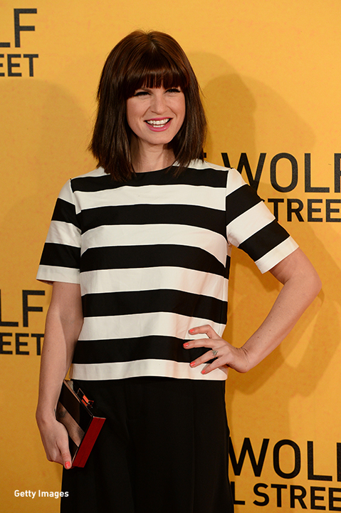 2014: Jemima Rooper is all smiles at 'The Wolf Of Wall Street' UK premiere in London.
