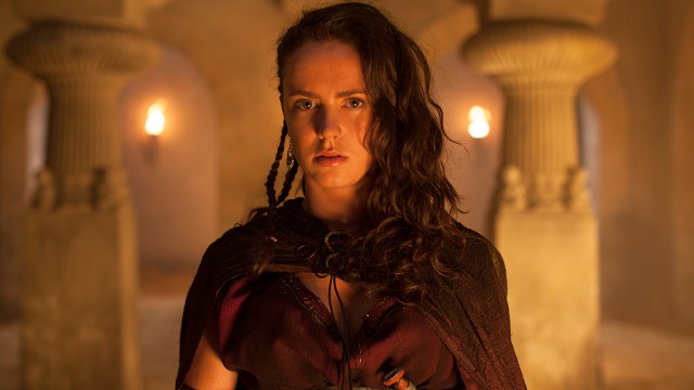 Medea is Pasiphae's niece, a Princess of Colchis who has inherited the gift of magic.