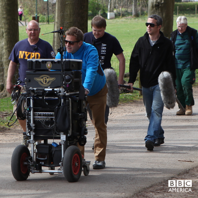 The sound team on the move to the next location