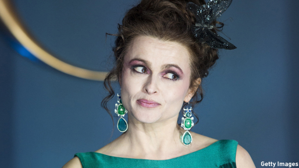 British actress Helena Bonham Carter poses for photographers on the red carpet ahead of the UK premiere of the film 'Cinderella' in central London on March 19, 2015. AFP PHOTO / JACK TAYLOR        (Photo credit should read JACK TAYLOR/AFP/Getty Images)