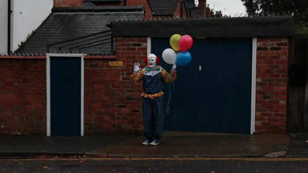 """""""Nothing going on here, just hanging out with some balloons."""" (Facebook)"""