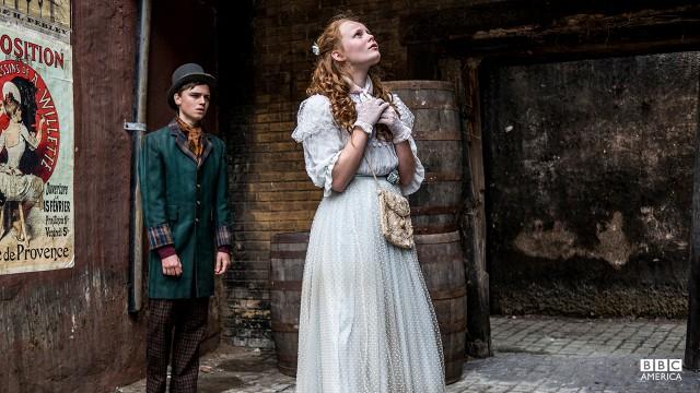 Harry Ward (Dean Charles Chapman) and Mathilda Reid (Anna Burnett).