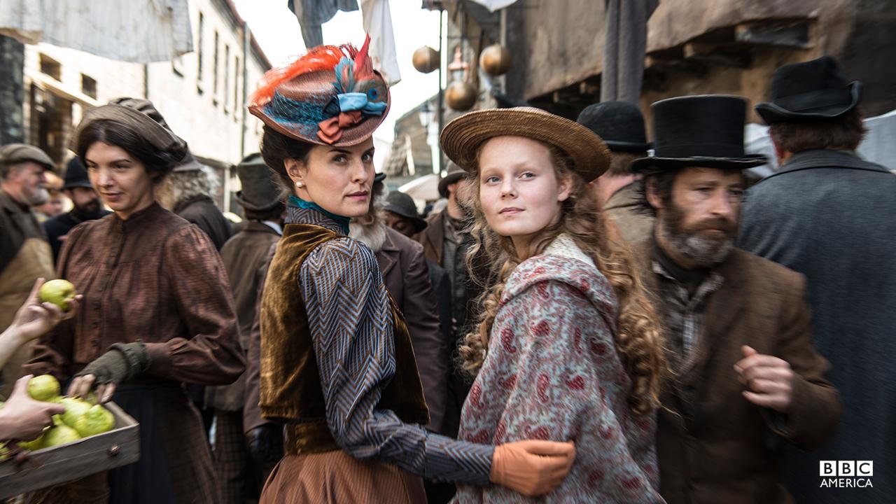Jane Cobden (Leanne Best) and Mathilda Reid (Anna Burnett).