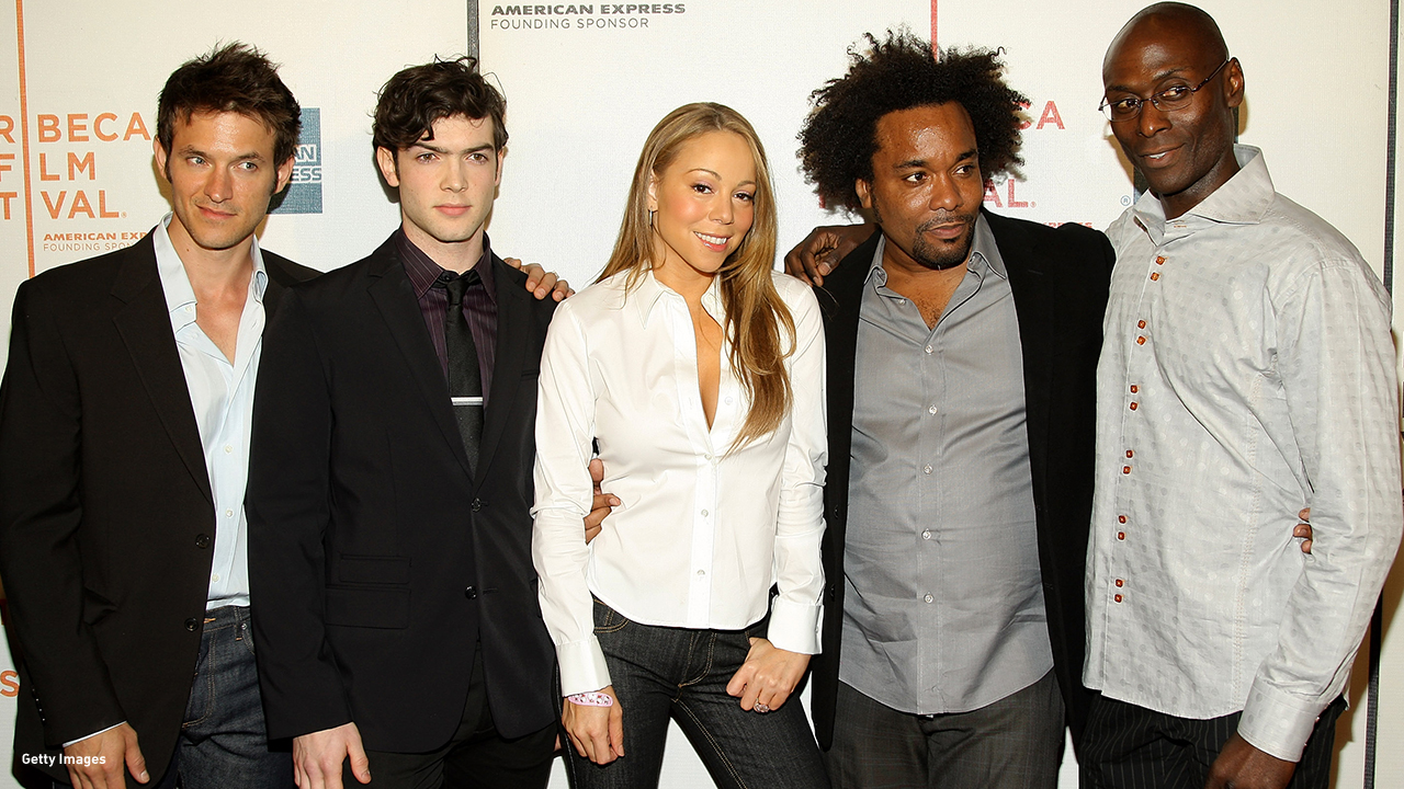 2008: Adam Rothenberg, Ethan Peck, Mariah Carey, Lee Daniels and Lance Reddick attend the 'Tennessee' premiere at the Tribeca Film Festival.