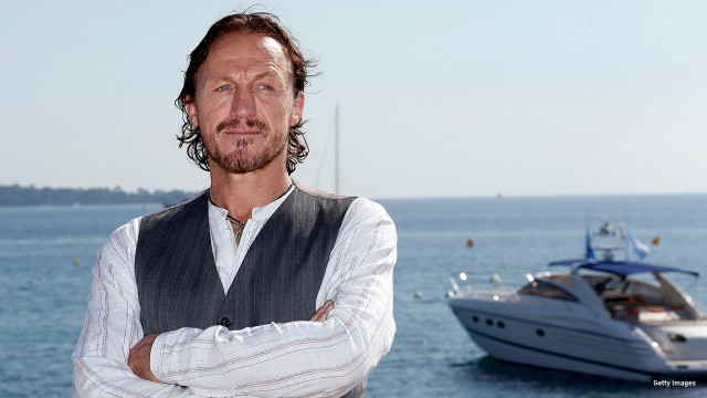 2012: Jerome Flynn works the camera in Cannes, France.