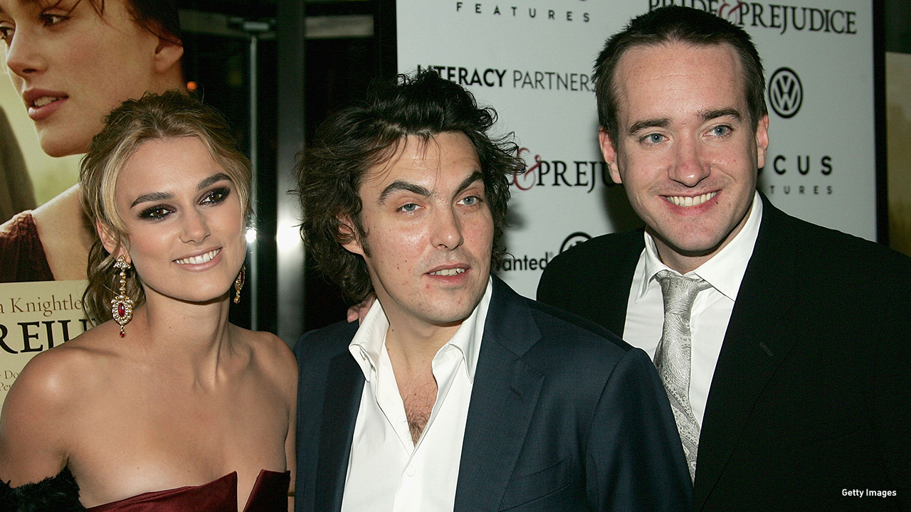 2005: Keira Knightley, Joe Wright and Matthew MacFadyen at the 'Pride & Prejudice' premiere in New York City.