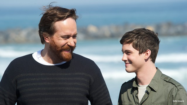 2011: Matthew MacFadyen and Logan Lerman are all smiles at the 59th San Sebastian International Film Festival.