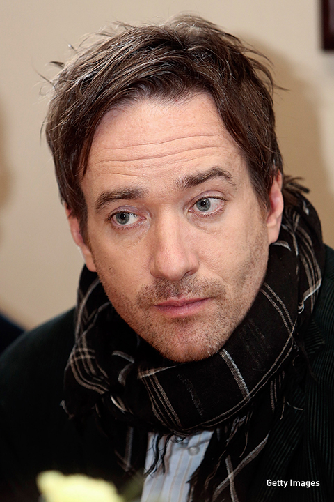 2013: Matthew MacFadyen rocks a scarf on the set of 'Epic' in Frankfurt, Germany.