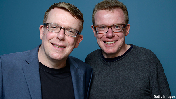 TORONTO, ON - SEPTEMBER 09:  Musicians Craig Reid and Charlie Reid of 'Sunshine On Leith' pose at the Guess Portrait Studio during 2013 Toronto International Film Festival on September 9, 2013 in Toronto, Canada.  (Photo by Larry Busacca/Getty Images)