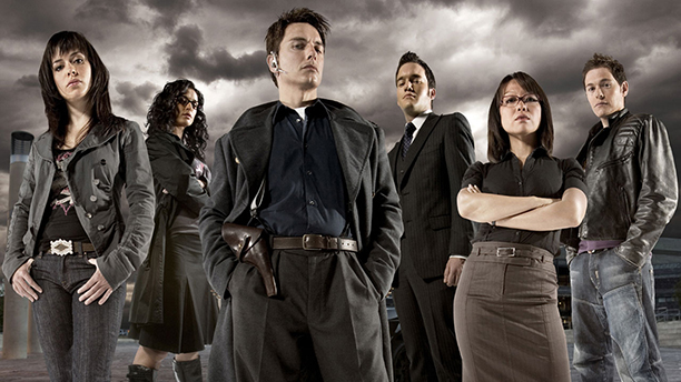 The original cast as they appeared in Torchwood. (BBC)