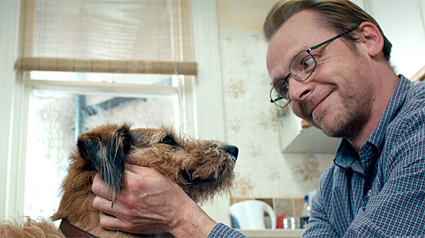 Simon Pegg plus best friend in 'Absolutely Anything' (Pic: Lionsgate)