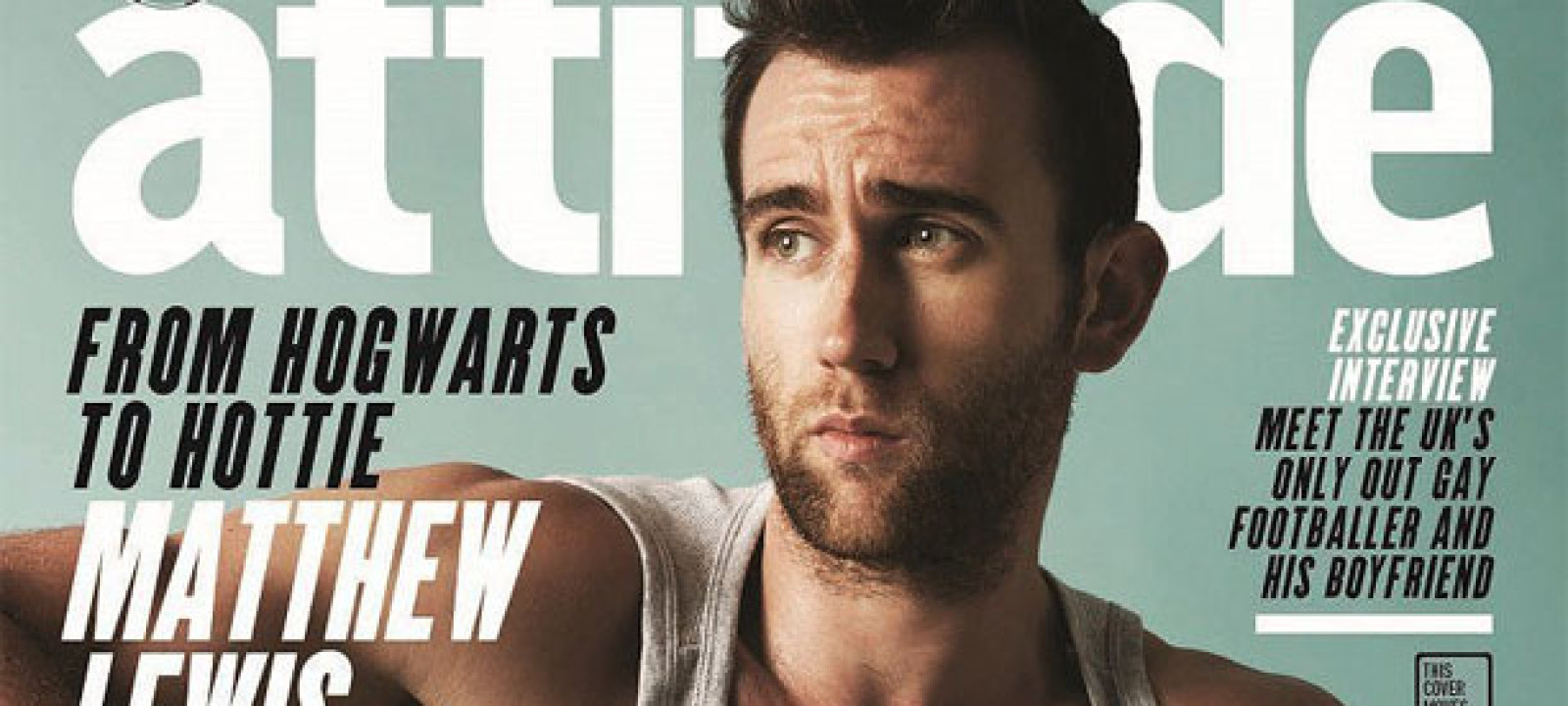 Matthew Lewis on the cover of Attitude Magazine (Pic: Attitude Media Ltd)