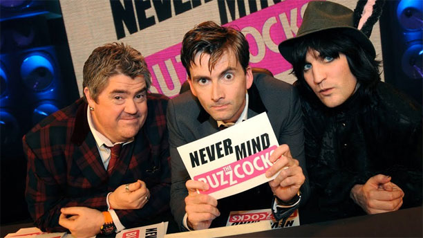 Phill Jupitus, David Tennant and Noel Fielding in 'Never Mind the Buzzcocks' (Pic: BBC)