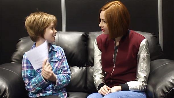 Presley Alexander and Karen Gillan at Denver Comic Con (Pic: Act Out Games)