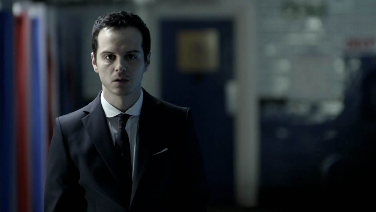 Andrew Scott as Jim Moriarty in Sherlock. (BBCA)