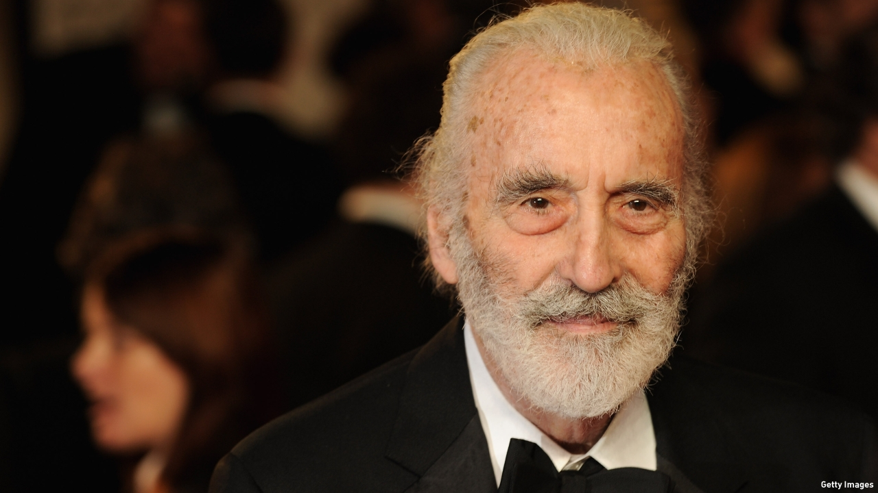 Sir Christopher Lee. (Pic: Eamonn McCormack/Getty Images)