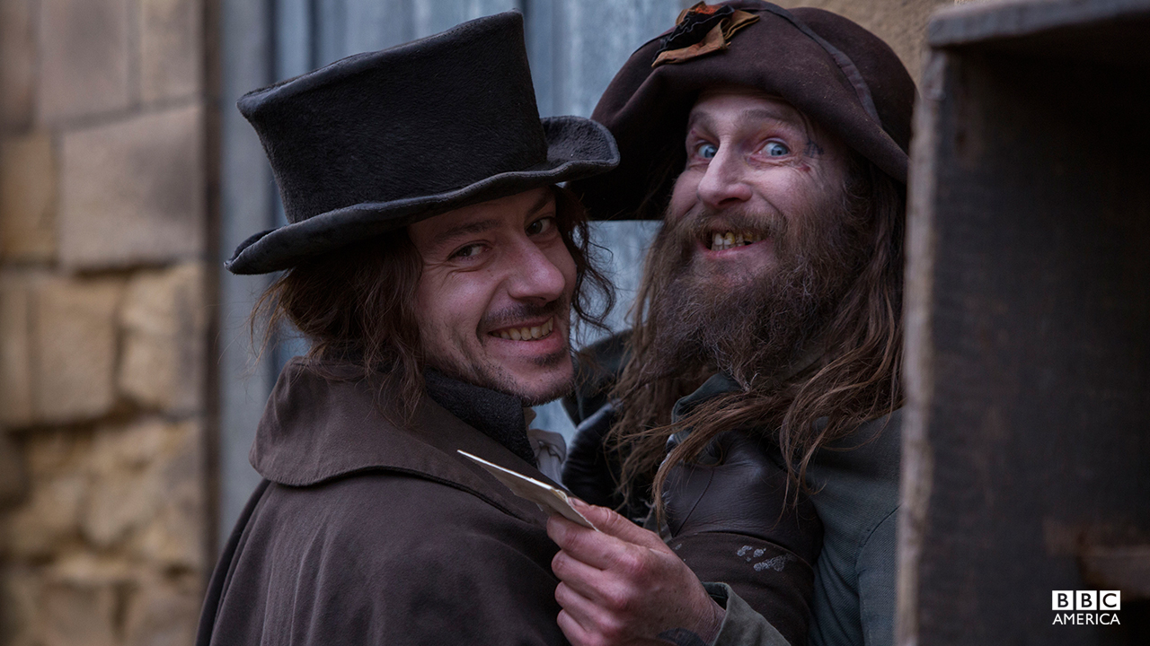 Enzo Cilenti (Childermass) and Paul Kaye (Vinculus).