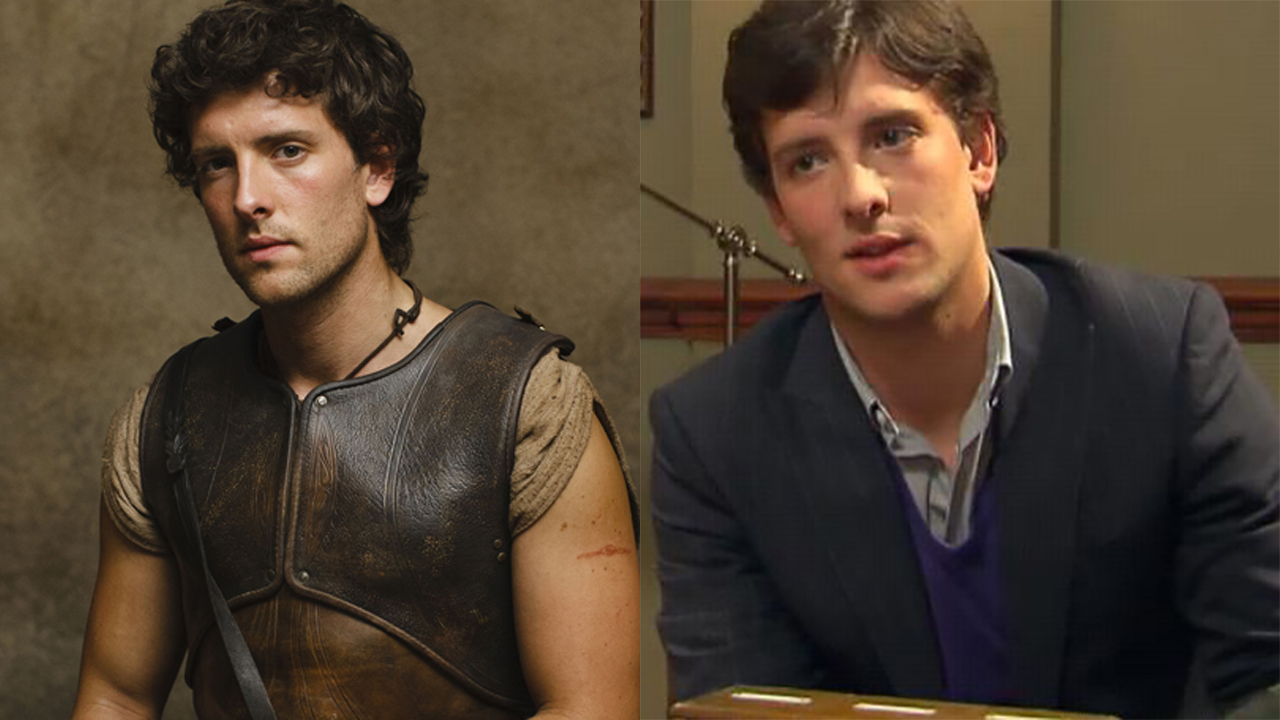 Jack Donnelly as Jason in Atlantis (left) and as Jason Winkler in House of Anubis. (BBCA/Lime Pictures)