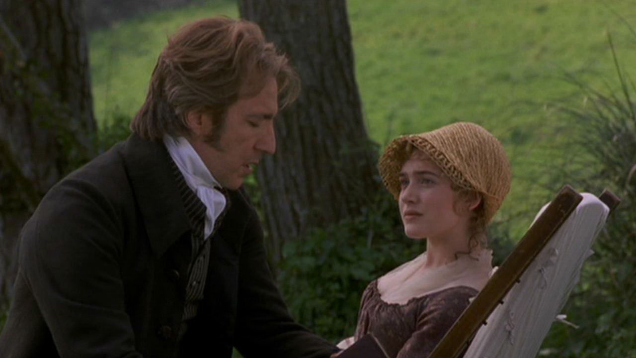 Alan Rickman courted a young Winslet in 1995's 'Sense and Sensibility'. (Columbia)