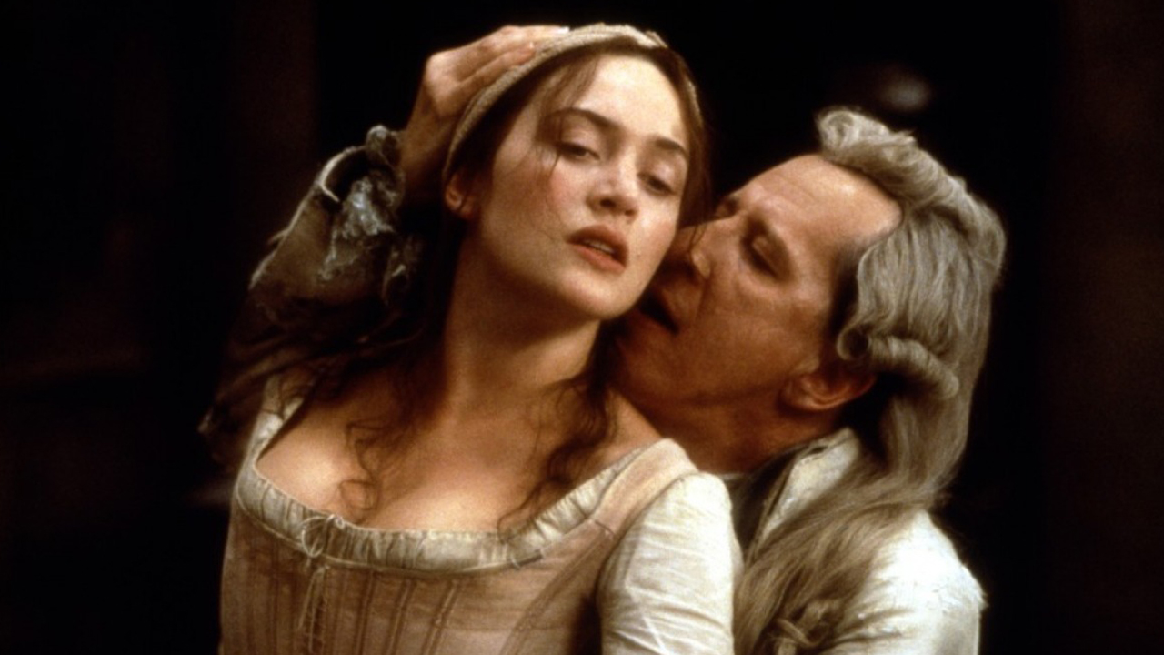 Winslet heated up the screen with Geoffrey Rush in 'Quills' in 2000. (FOX)