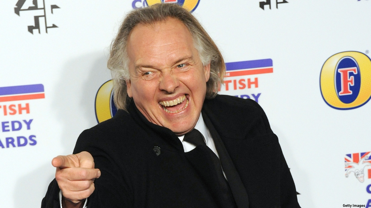 The late, great Rik Mayall. (Pic: Stuart Wilson/Getty Images)