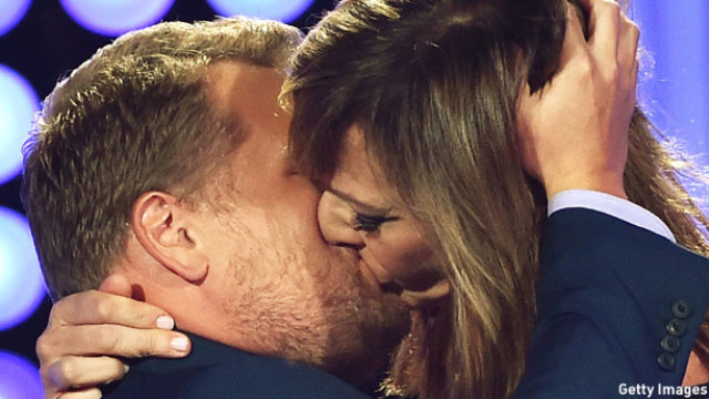 James Corden and Allison Janney (Pic: Kevin Winter/Getty Images)