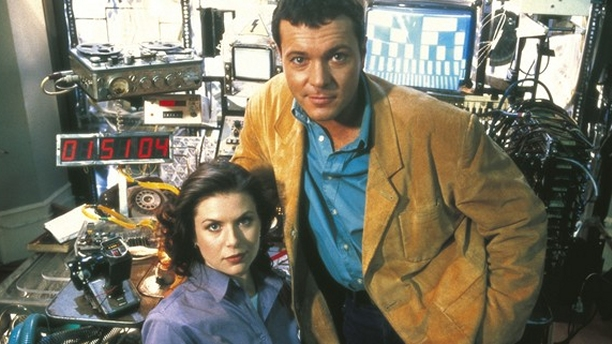 Chloe Annett and Michael French in 'Crime Traveller.' (Pic: BBC)