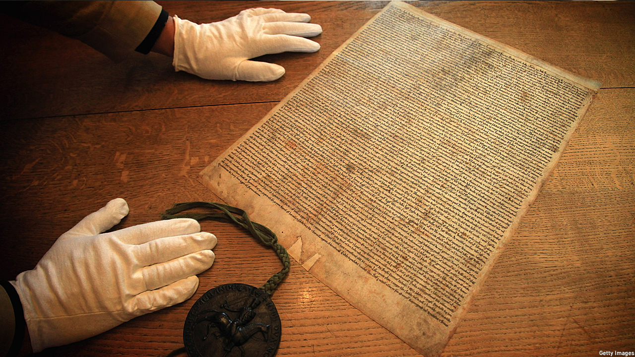 A facsimilie copy of the 1215 Charter of Runnymede (Pic: Matt Cardy/Getty Images)