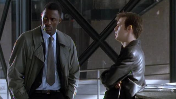 Idris Elba and Jack Davenport in 'Ultraviolet.' (Pic: Channel 4)