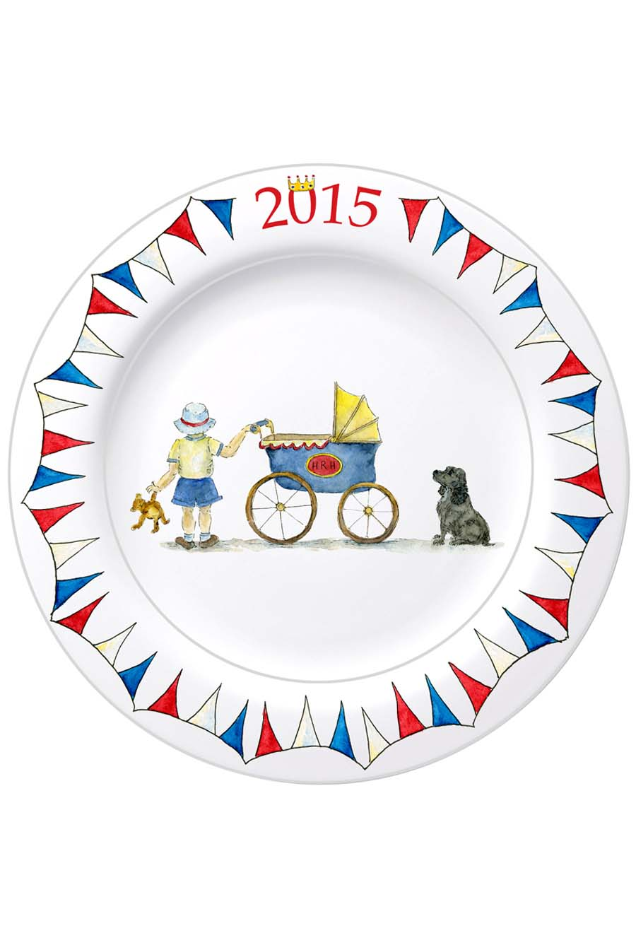 This plate of Prince George and Lupo can be used for snacking or hanging on the wall. (BBC Shop)