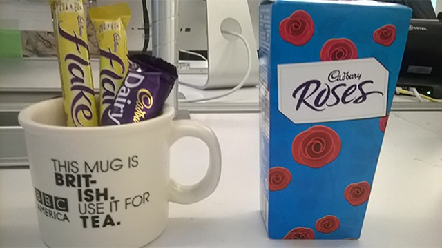 Our Brit-ish mug is empty. More chocolates, please. (BB)