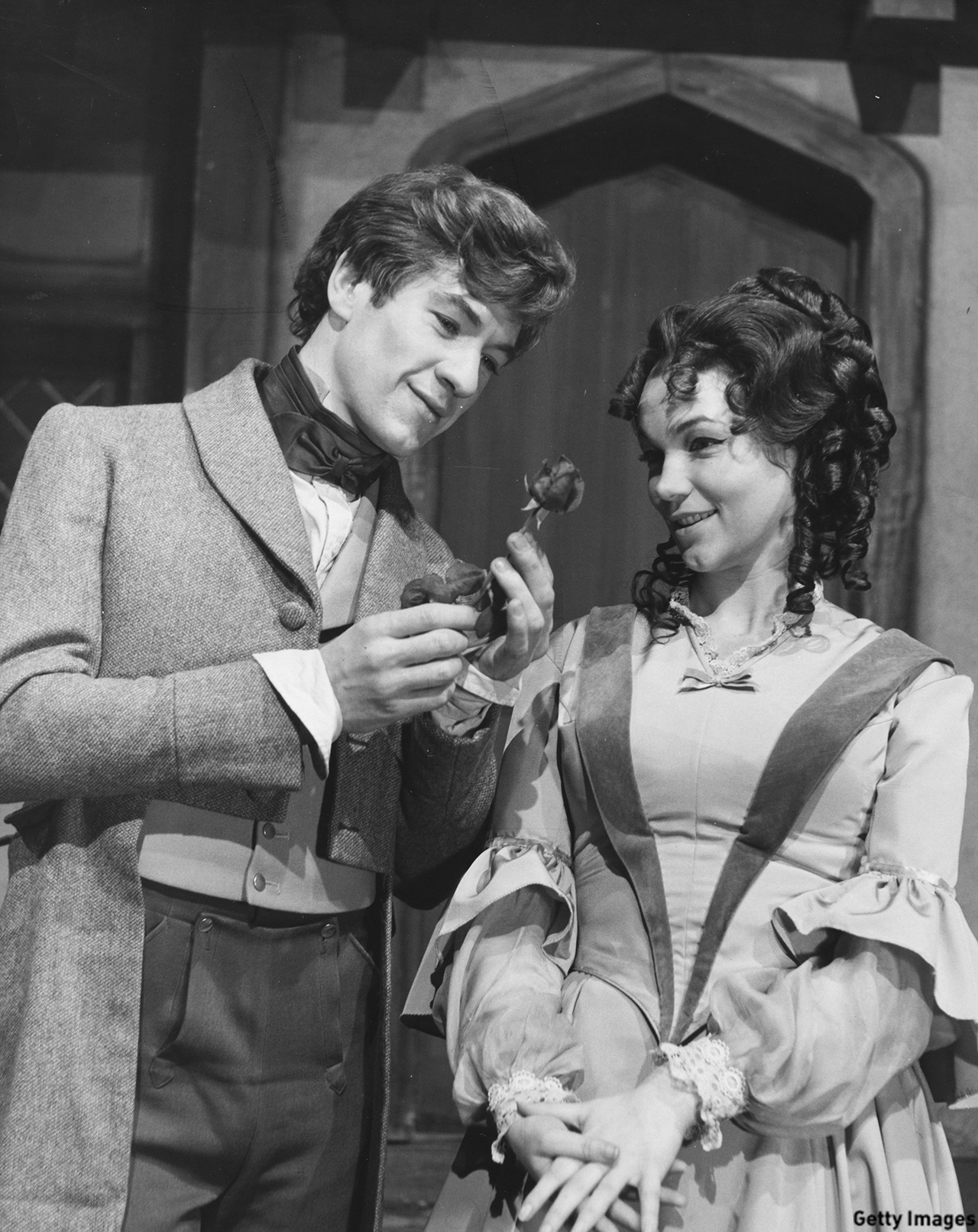 Sir Ian McKellen was snapped with Tina Packer in the 1965 BBC production of 'David Copperfield'. (Harry Todd/Fox)
