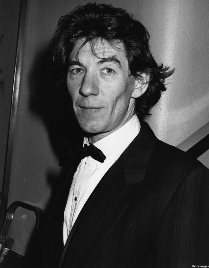 McKellen attended the 1985 BAFTA Awards ceremony at the Grosvenor Hotel in London.  (John Gooch/Keystone/Getty Images)