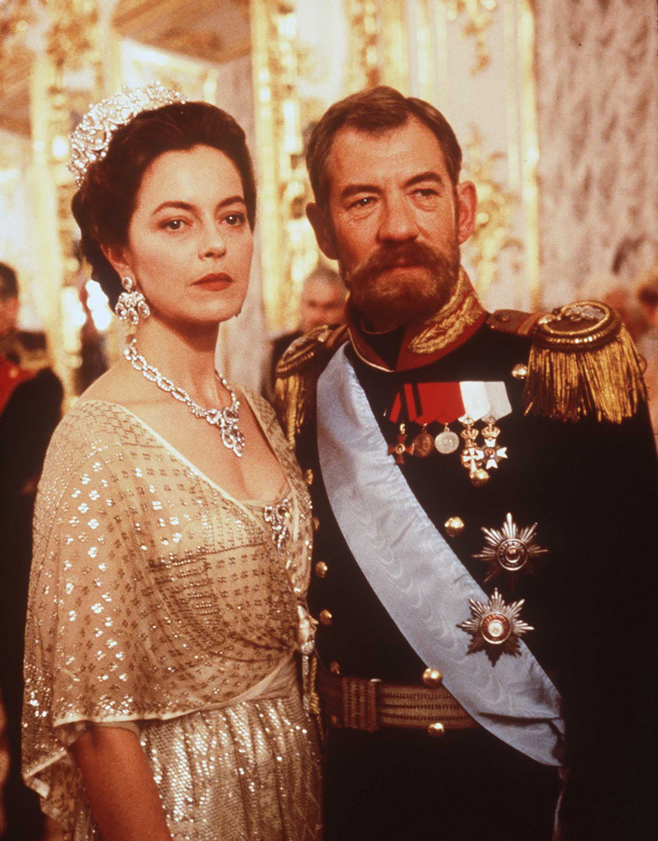 McKellen was snapped for a film still starring opposite Greta Scacchi in the 1997 TV movie 'Rasputin'.  (Getty Images)