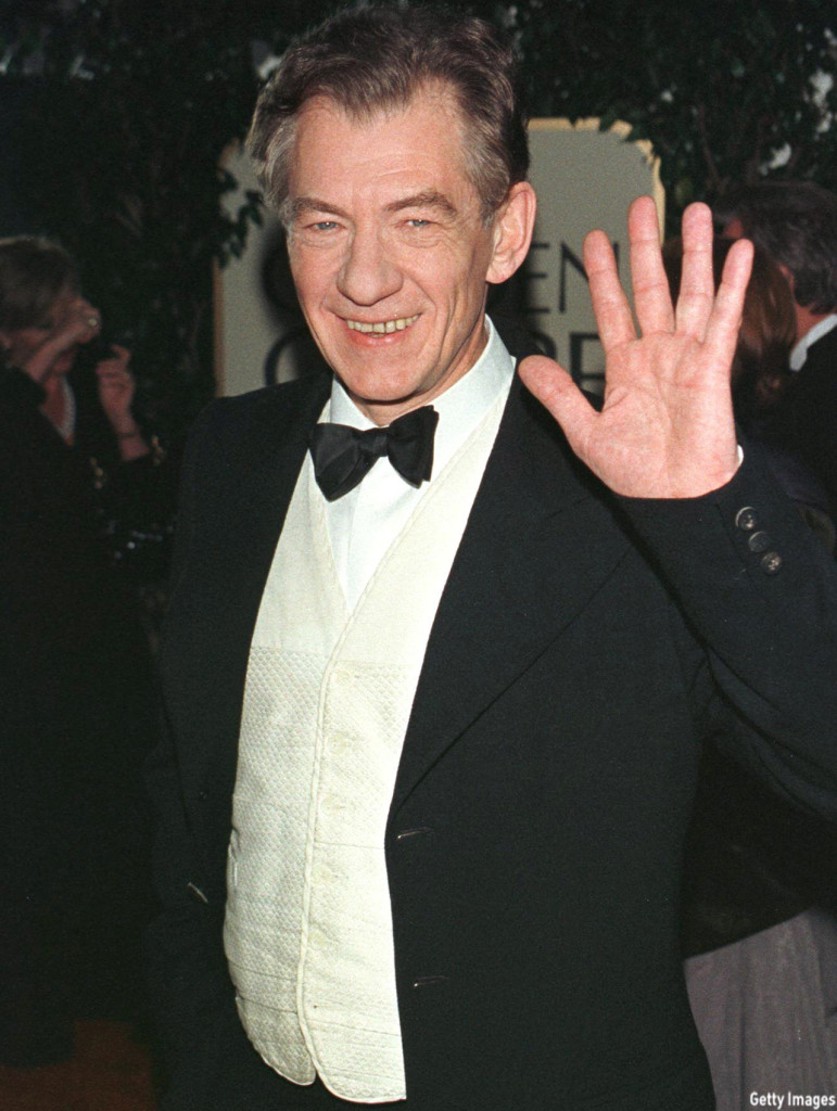 McKellen arrived to the 56th Annual Golden Globe Awards in 1999. He was nominated for Best Actor in a Drama for his role in the film 'Gods and Monsters.' (Vince Bucci/AFP/Getty Images)