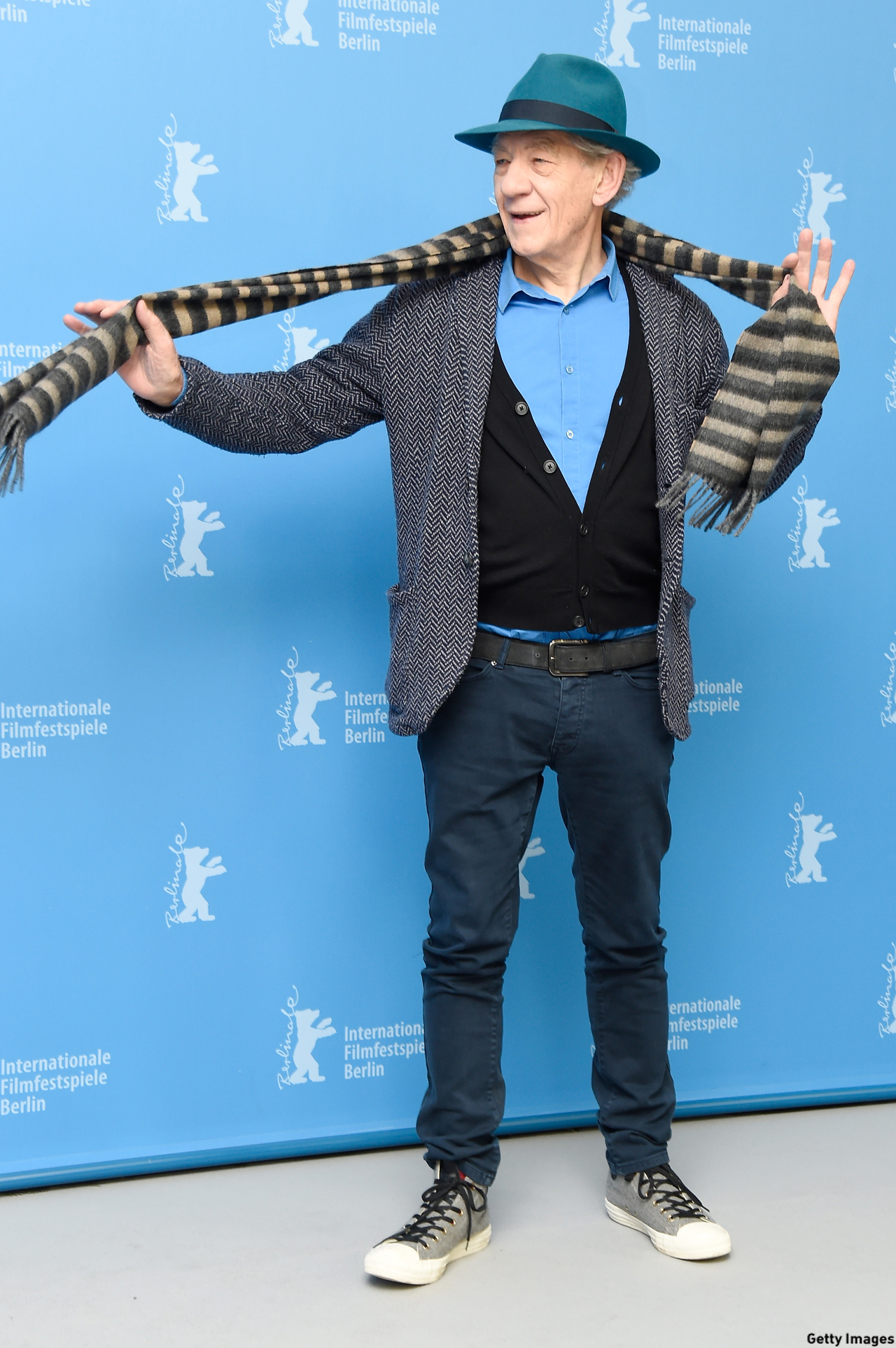 McKellen was snapped at the 'Mr. Holmes' photocall during the 65th Berlinale International Film Festival in Berlin, Germany, in 2015. (Pascal Le Segretain/Getty Images)