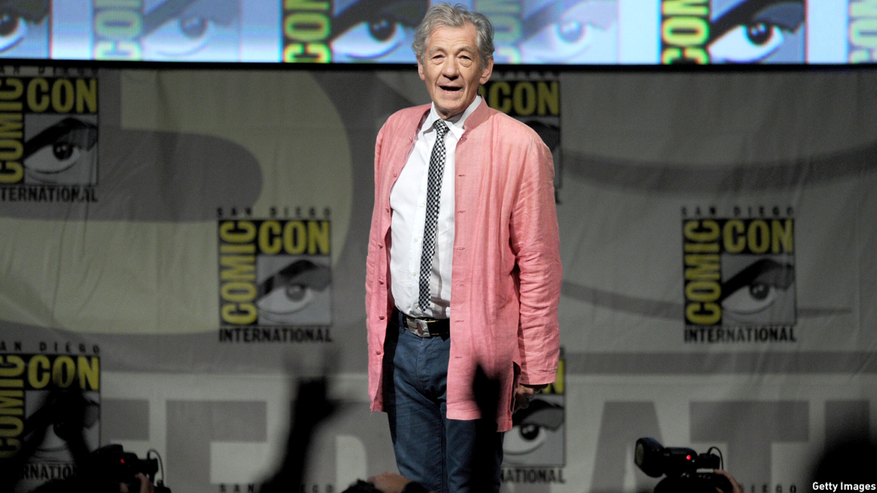 McKellen spoke at the preview of 'The Hobbit: An Unexpected Journey' during Comic-Con International 2012 in San Diego. (Kevin Winter/Getty Images)
