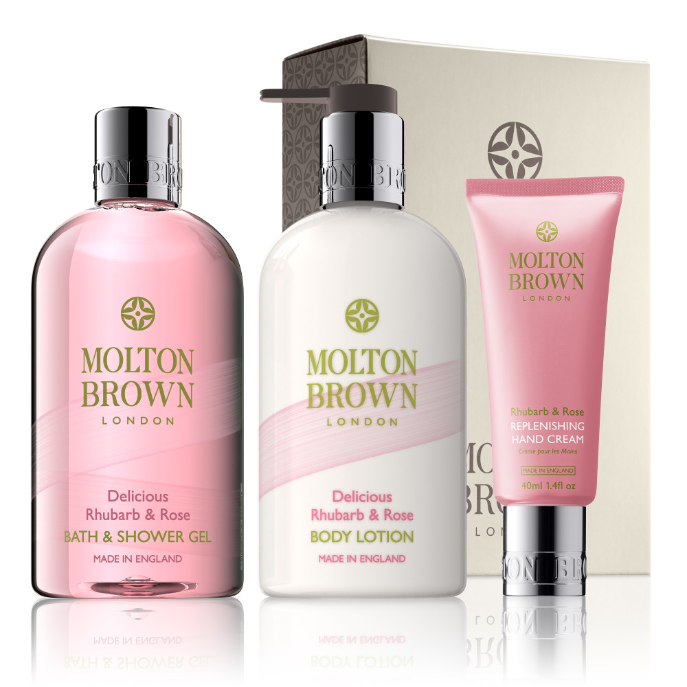 Mum-to-be can relax with this Molton Brown London lotion and soap pamper gift set. (MoltonBrown)