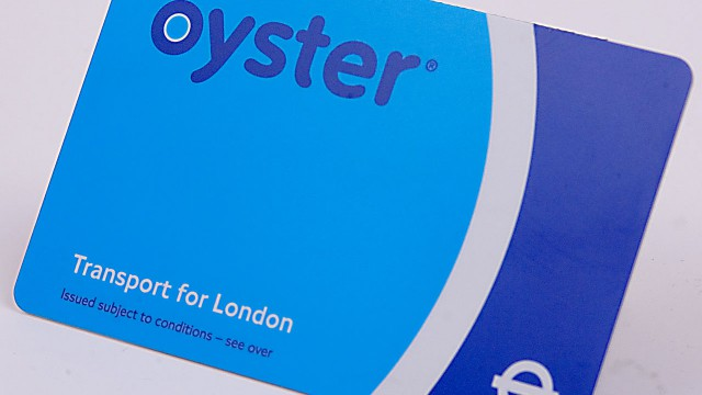 A topped up Oyster card to ride the Tube on our next visit to London. (Wiki)