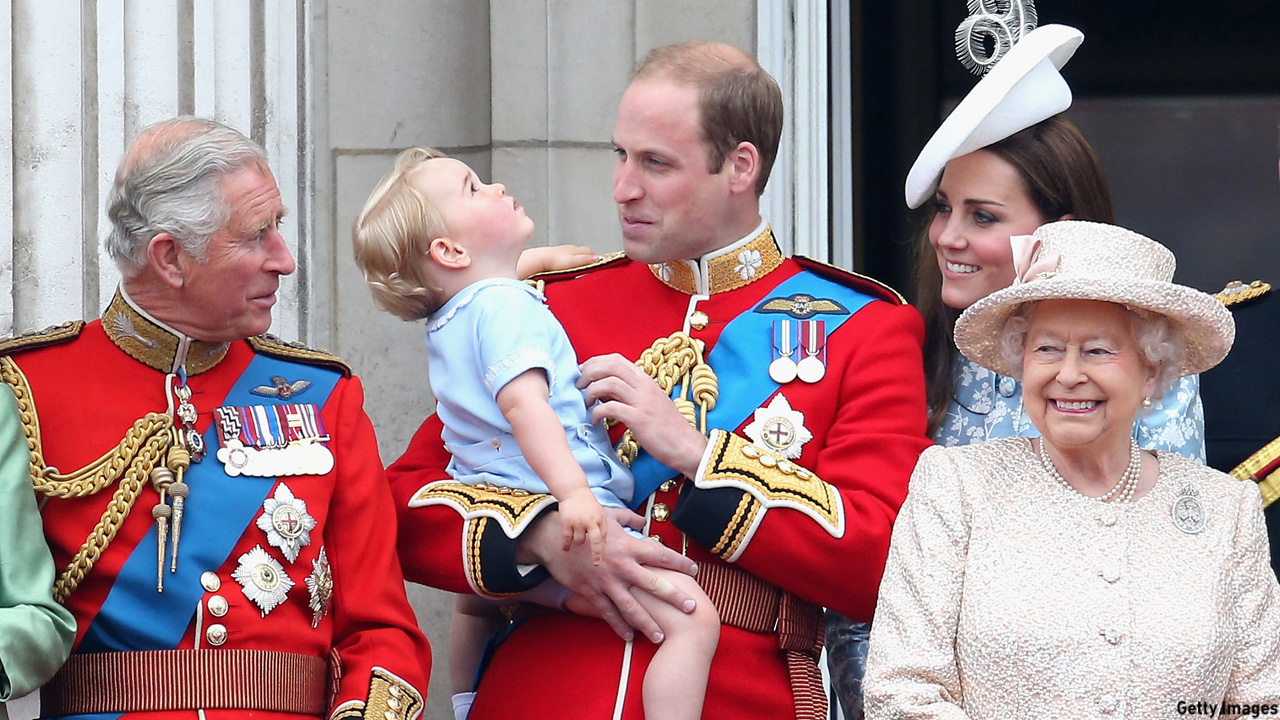 Prince George joined his parents, grandfather Prince Charles, and great-grandmother Queen Elizabeth II on the balcony for the Trooping the Colour in June 2015. (Chris Jackson/Getty Images)