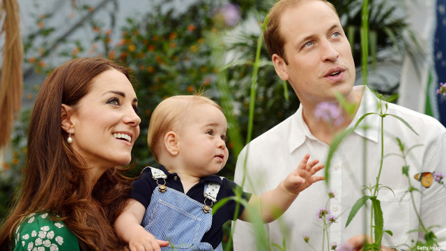 Prince George celebrated his first birthday with mum and dad, Catherine, Duchess of Cambridge, and Prince William, Duke of Cambridge in July 2014. (JOHN STILLWELL/AFP/Getty Images)