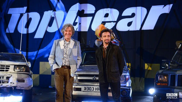 James May and Richard Hammon in the Top Gear studio.
